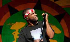 Frank Ocean performs during the 2013 New Orleans Jazz & Heritage Music Festival