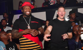 50 Cent and Joseph Sikora attend Power MLK weekend Grand Finale Party