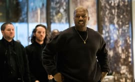 Kanye West arrives at Trump Tower, December 13, 2016