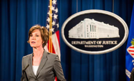 Deputy Attorney General Sally Q. Yates speaks during a press conference