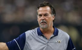 Jeff Fisher argues a call