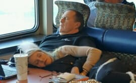 Bill Belichick and his girlfriend passed out on a ferry.