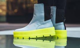 Rihanna x Puma Fenty Chelsea Sneaker Boot Grey Release Date Profile
