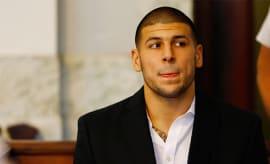 Aaron Hernandez in court.