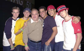 Lou Pearlman with O-Town