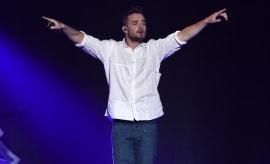 Liam Payne performs at a concert.