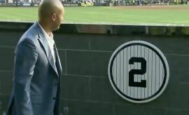 Derek Jeter unveils plaque in Monument Park.