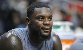 Lance Stephenson sits on the bench.