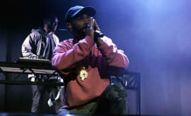 Big Sean performs onstage at the Sir Lucian Grainge's 2017 Artist Showcase