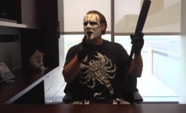 WWE Hall of Famer Sting in Dallas Cowboys office