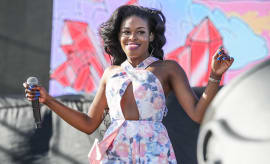 Rapper Azealia Banks performs during the Coachella Valley Music and Arts Festival