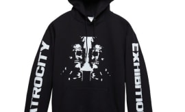 This is Danny Brown's 'Atrocity Exhibition' merch with PacSun.