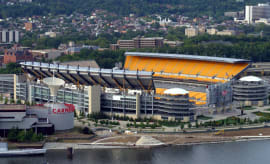 An outside shot of Heinz Field.