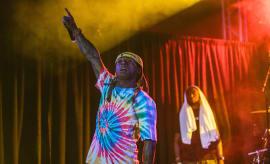 Lil Wayne performing at Stubbs during SXSW