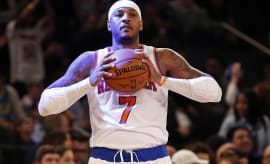 Carmelo Anthony Knicks Thunder 2017 MSG