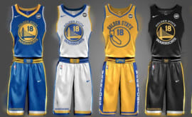 Warriors uniforms created by a fan.