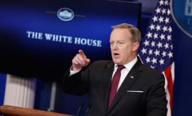 Sean Spicer holds the daily briefing