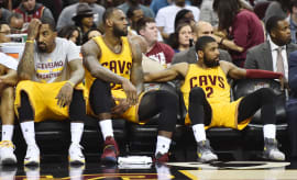 LeBron Jr Smith Kyrie Bench Cavs 2017