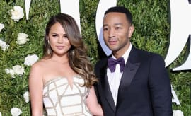Chrissy Teigen and John Legend attend the 71st Annual Tony Awards