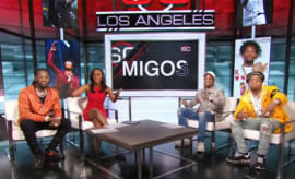 Migos on set for SportsCenter.