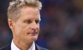 Steve Kerr ponders his life choices during a game.