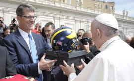 Jim Harbaugh Pope Air Jordans