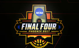 The NCAA basketball 2017 Final Four logo.