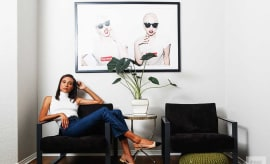 Designer and mother TyLynn Nguyen in her Calabasas, California, home.