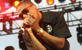 This is Lupe Fiasco performing.