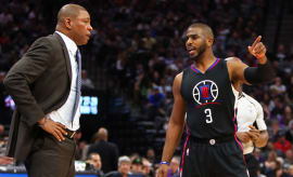 Doc Rivers and Chris Paul.