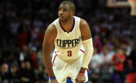 Chris Paul reacts to a call during Game 5 of the Clippers/Jazz series.