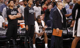 Kawhi Leonard Spurs Rockets Game 5 Bench 2017