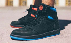 Air Jordan 1 Quai 54 Release Date On-Foot AH1040-054