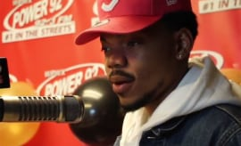 Chance does an interview with Power 92 Chicago.