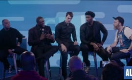 Russ Bengston hosts a panel at NBA All-Star Weekend.