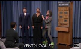 "Jimmy Fallon plays ""Humannequins"" with some guests."