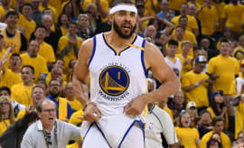 JaVale McGee (1) during the first quarter in game one of the 2017 NBA Finals.