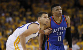 Steph Curry Russell Westbrook Golden State Oklahoma City 2016