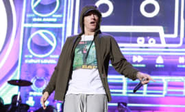 Eminem performs in 2014.