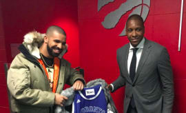 "Drake Gets ""Drake Night"" Custom Fishtail Coat"