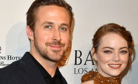 This is a photo of Ryan Gosling and Emma Stone.