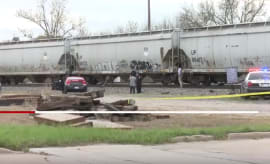 Woman killed by train