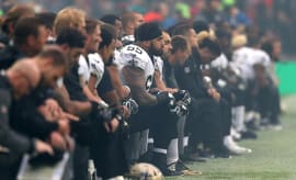 New Orleans Saints take a knee