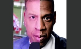 Troy Aikman/Jay-Z mash-up.
