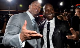 Tyrese and The Rock.