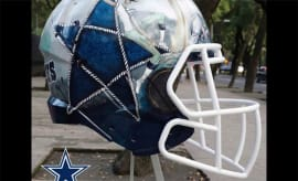 A Mexican artist's interpretation of a Cowboys helmet.