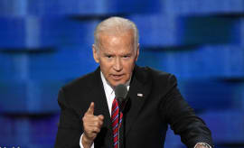 Joe Biden delivers speech.