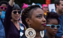 The March for Black Women (M4BW) and the March for Racial Justice (M4RJ) converge