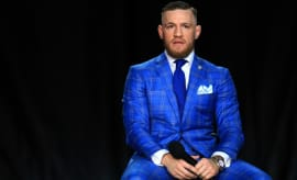 Conor McGregor at a press conference.