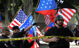 neo nazi rally